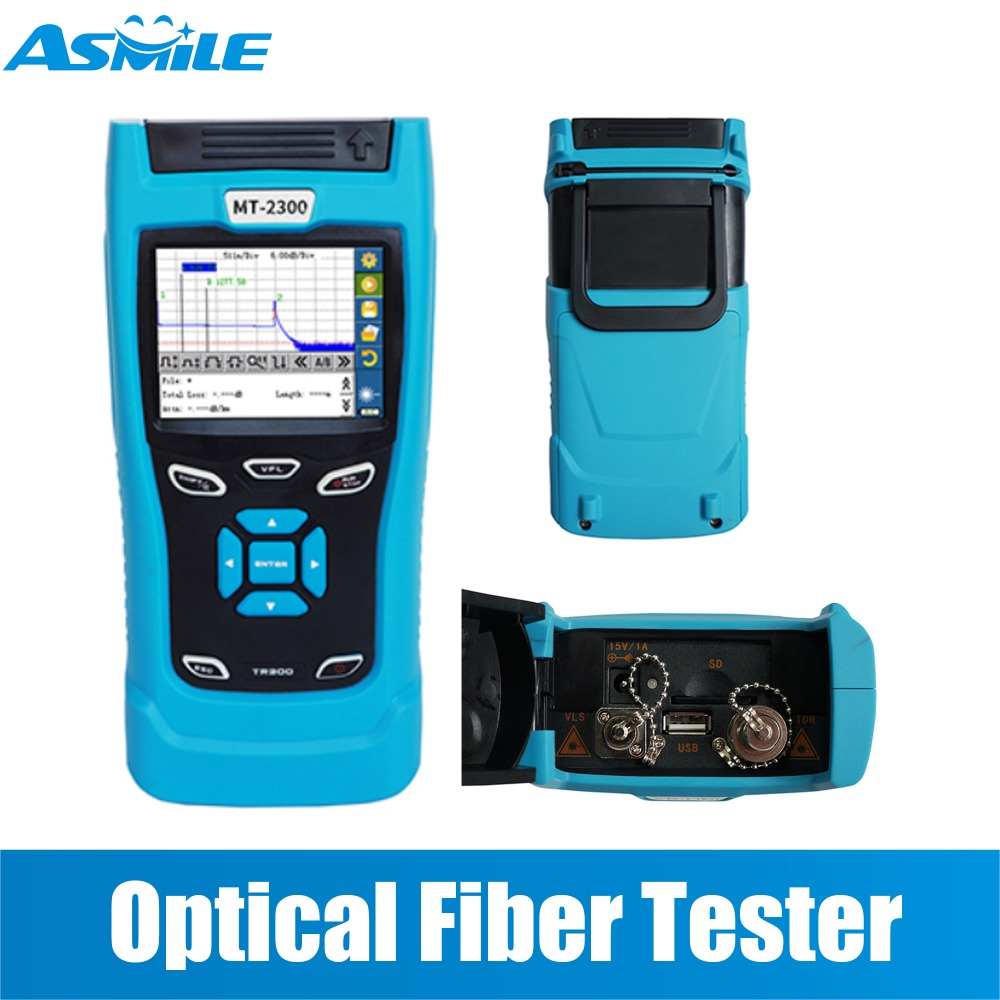 3.5 inch color TFT-LCD  MT-2300 Plus  Optical Fiber Tester with Traces fixed function mode for comparison  reference waveforms3.5 inch color TFT-LCD  MT-2300 Plus  Optical Fiber Tester with Traces fixed function mode for comparison  reference waveforms