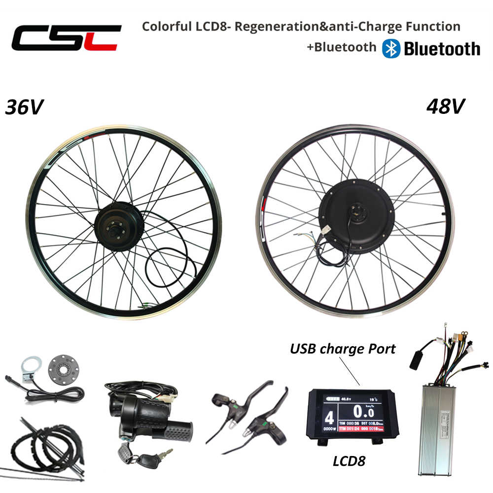 eBIKE Conversion Kit 20-29 inch 700C Electric Bicycle Conversion Kit 48V 1000W 1500W 36V 250W 500W Front Rear Hub Motor Wheel