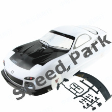 купить 2pcs/lot Mazda RX7 1/10 1:10 PVC painted body 190MM wheelbase shell 1/10 RC hobby racing car for hsp hpi tamiya yokomo mst дешево