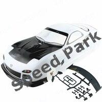 2pcs/lot Mazda RX7 1/10 1:10 PVC painted body 190MM wheelbase shell 1/10 RC hobby racing car for hsp hpi tamiya yokomo mst