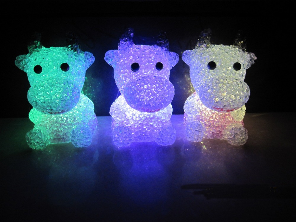 Crystal cow small light colorful LED small lights