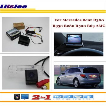 """Liislee For Mercedes Benz R300 R350 R280 R500 R63 AMG Car Reverse Rear Camera + 4.3"""" LCD Monitor = 2 in 1 Parking System"""