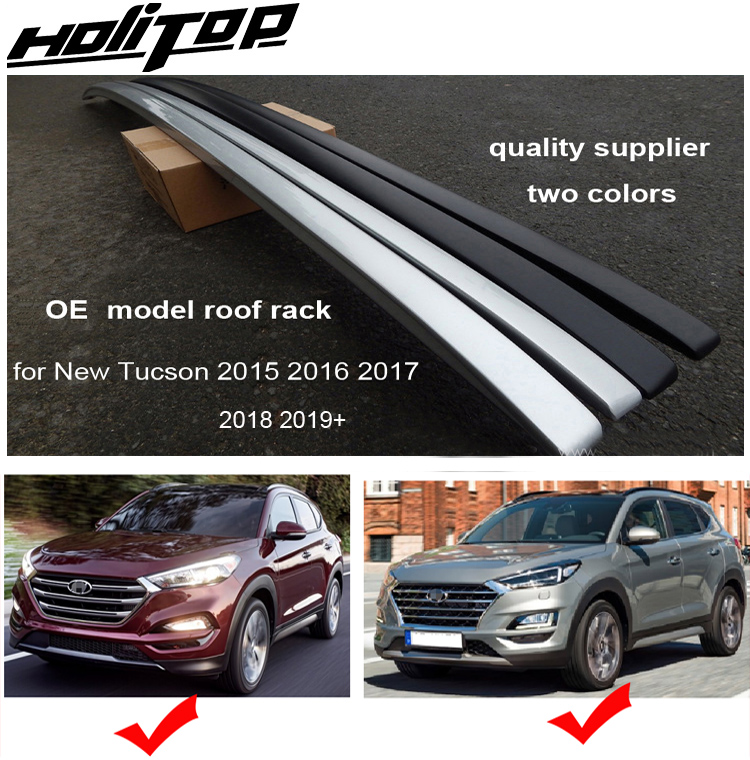 roof rack roof rail bar for hyundai new tucson 2016 2017 2018 2019 2020 silver or black iso9001 quality from 6 years old seller