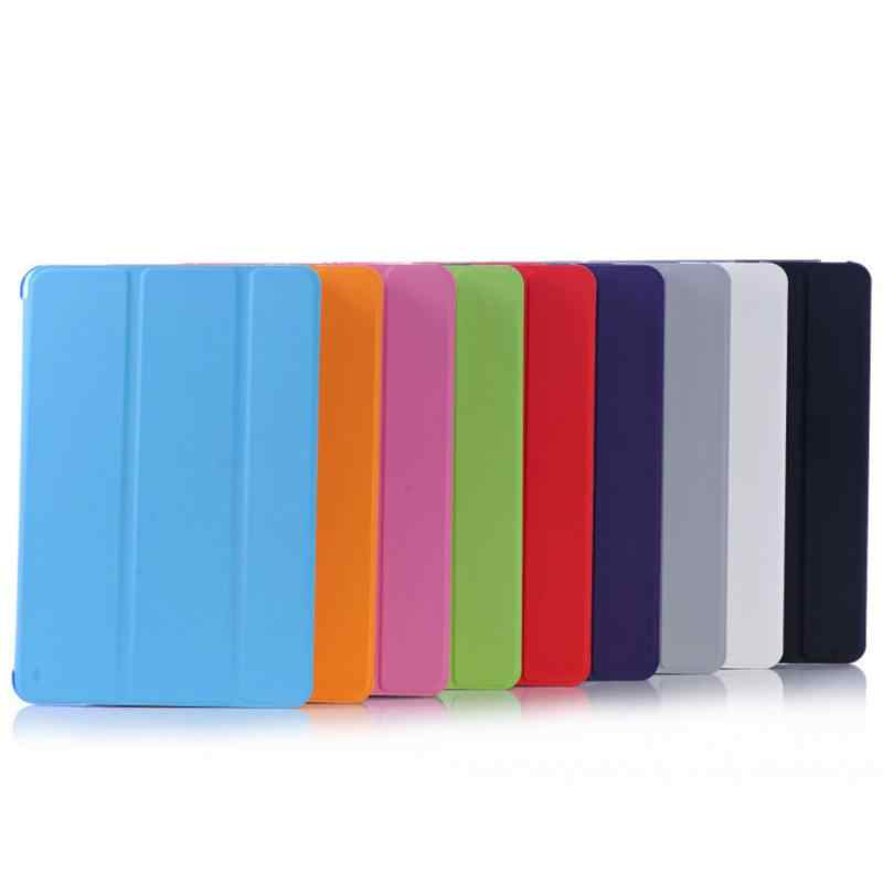 لباد البسيطة الشبكية 9 ألوان الأصلي التبسيط سلسلة الاستيقاظ أضعاف حامل حقيبة جلد غطاء ذكي لباد البسيطة 1 2 3