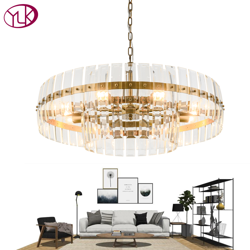 Us 528 93 19 Off Youlaike Modern Luxury Crystal Chandelier Creative Design Living Room Gold Crystals Light Dining Chain Chandeliers Lighting In