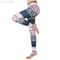 Push Up Mince Legging Géométrie Rayé Sexy Leggins Harajuku Fitness Danse Pantalon Vente Chaude Workout Capri Mujer Floral Legging
