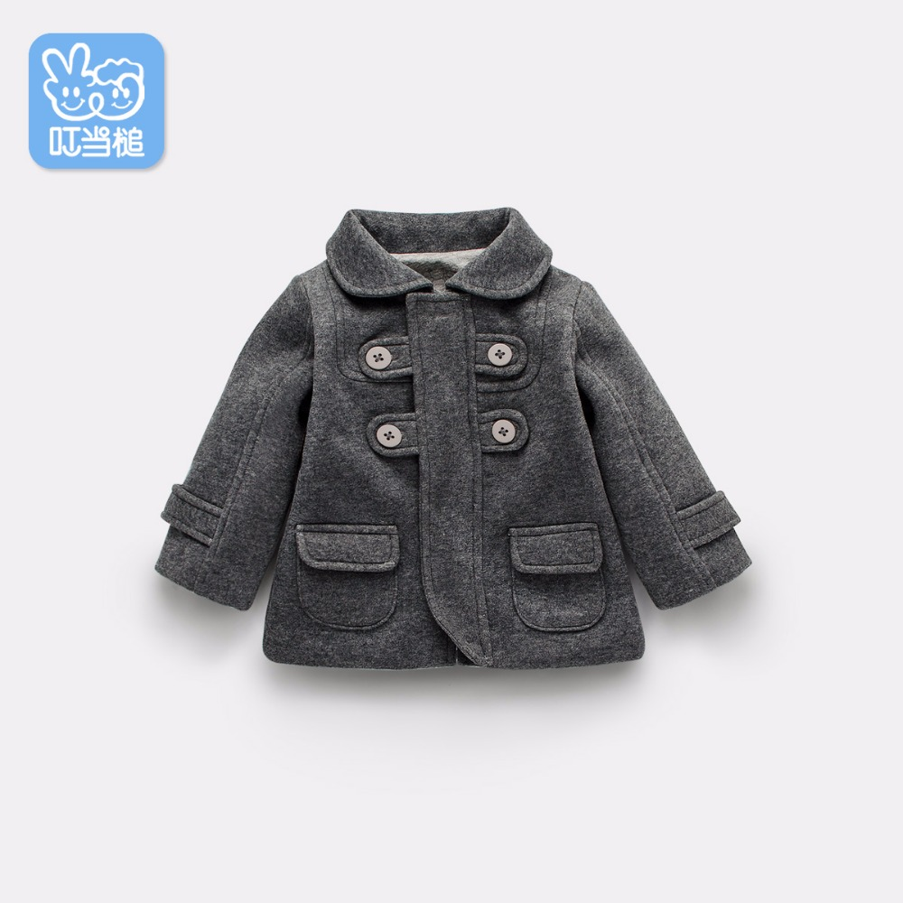 Jingle Mallet Babys Mantel Umgedrehter Kragen Frühling Herbst Tweeds - Kinderkleidung