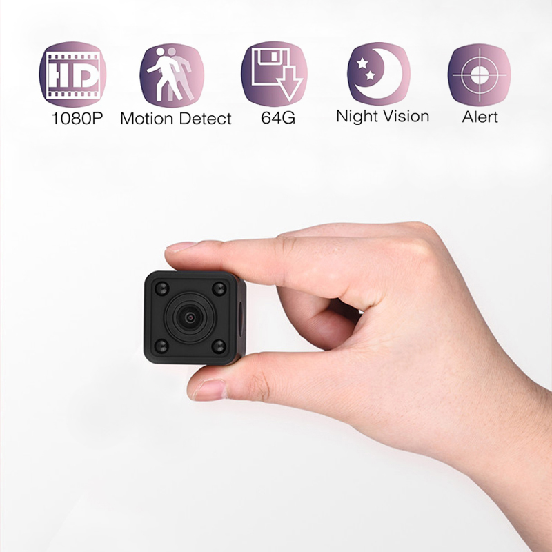 Mini ip camera micro cam Motion Detection Night Vision Home mini camcorder 1080P HD security wifi camera Стикер