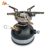 Non Preheating Oil Stove Mini Outdoor Camping Stove Burners No Noise with Self contained Needle for Hiking BBQ