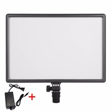 CN-Luxpad43 Pro LED Photo Video Light with AC Adapter Photographic Lighting for Canon Nikon Sony Panasonic DSLR Camera Camcorder
