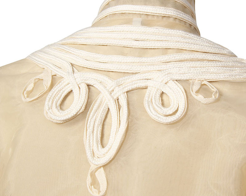 En eam Lâche À Mode Printemps Col Manteau Trois Couture Veste Manches Apricot Organza 2019 Dimensions Jh398 Longues Nouveau Stad Femmes XOF8Xr