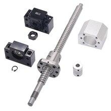 SFU1605 セット: SFU1605 転造ボールねじ機械加工端部と C7 + 1605 ボールナット + ナット + BK/BF12 エンドサポート + カプラ RM1605