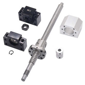 SFU1605 set:SFU1605 rolled ball screw C7 with end machined + 1605 ball nut + nut  housing+BK/BF12 end support + coupler RM1605 - Category 🛒 All Category