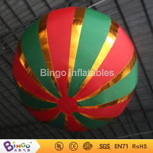 christmas hanging inflatable ball,colorful party balloons 1.5m diameter with built-in mini blower BG-A1167 toy