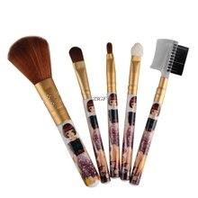 2017 5pcs Makeup Cosmetic Brushes Set Powder Foundation Eyeshadow Brush Tool  JUL25_46