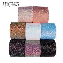 IBOWS 1yard 3 75mm Chunky Glitter Ribbon Blingbling Fabric Gift Package DIY Hair bows Material Sewing Accessories