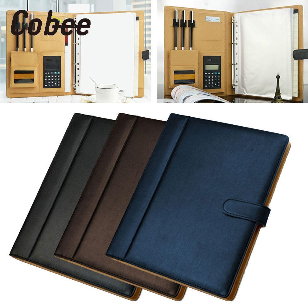 Cobee A4 with Computer Briefcase Cover Storage Bag File Folder Business Fashion Stationery Large Capacity Paper Folder korean simple solid a4 big capacity document bag business briefcase storage file folder for papers stationery student gift