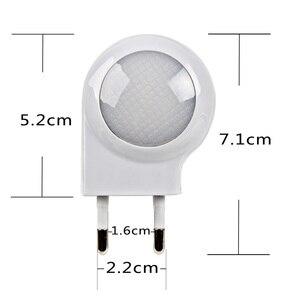 "Image 4 - מיני LED חילזון לילה אור אוטומטי לילה מנורת תאורה מובנה חיישן בקרת אור קיר מנורת עבור תינוק ילדים שינה האיחוד האירופי/ארה""ב Plug"