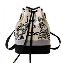 Два Товары для кошек принтами Лето одного плеча или сумка модная парусиновая wemen рюкзак смешно Оригинал сумка-мешок Повседневный Рюкзак