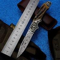 2018 Новый Бесплатная доставка шведский порошок дамасский охотничий нож самообороны Открытый Кемпинг высокой твердости складные ножи
