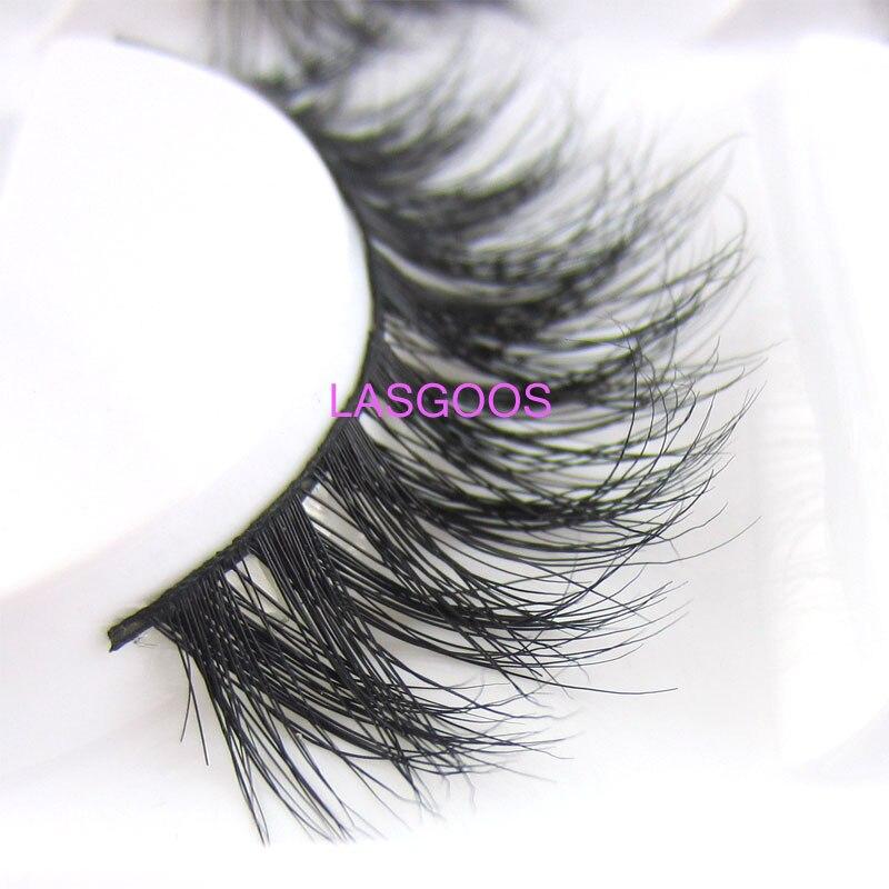 21e26a8e30a LASGOOS 5 Pairs 100% Real Mink Siberian Messy Natural Cross 3D Daily False  Eyelashes Fake Stripe Lashes Wedding Eye Makeup A14-in False Eyelashes from  ...