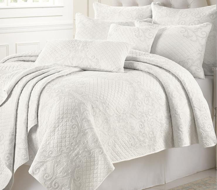 Новое ручное одеяло, 100% хлопок, Комплект постельного белья, покрывало на кровать, воздушное покрывало с кондиционером, белое/бежевое лоскутное одеяло, King ropa de cama