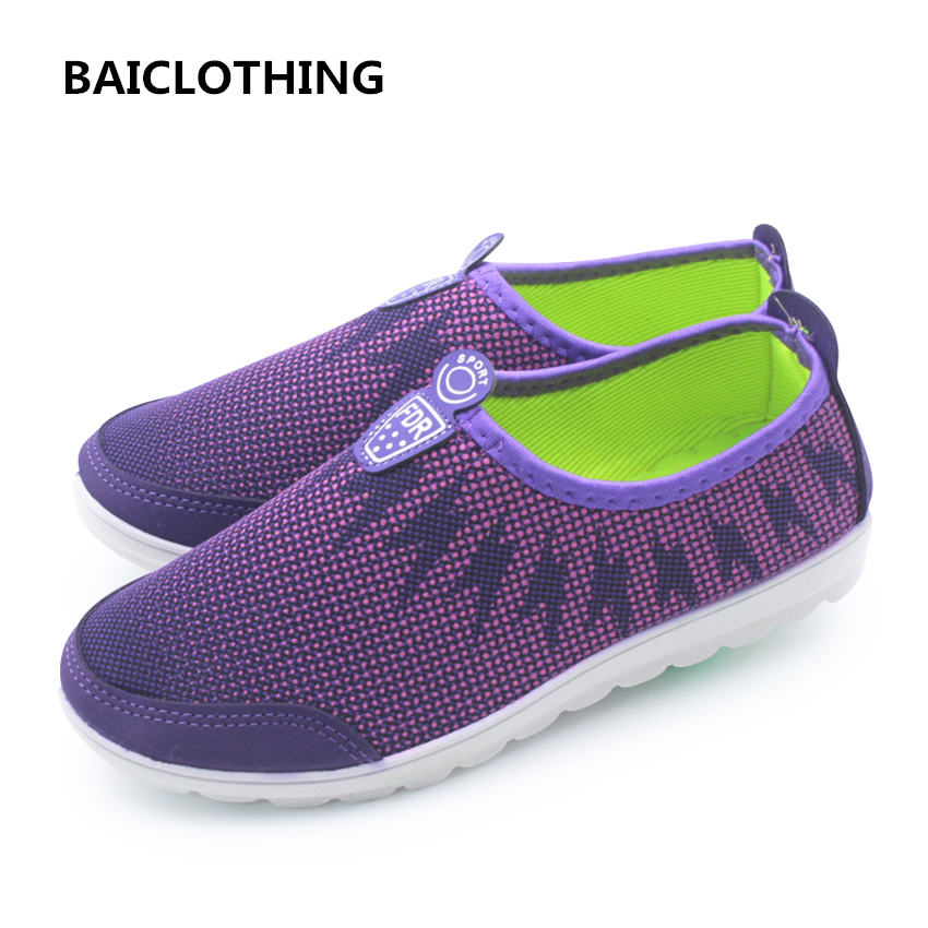 BAICLOTHING women spring & summer slip on shoes lady casual soft flat shoes sapatos femininas female cute mesh breathable shoes baijiami 2017 new children solid breathable slip on pu casual shoes boys and girls spring summer autumn flat bottom shoes
