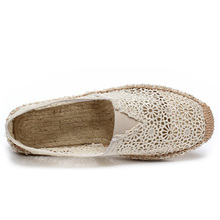 Shoes Women Fashion Lace Summer Flats Shoes Slip on Espadrilles Hollow out Breathable Casual Creepers Ladies Footwear 1h25