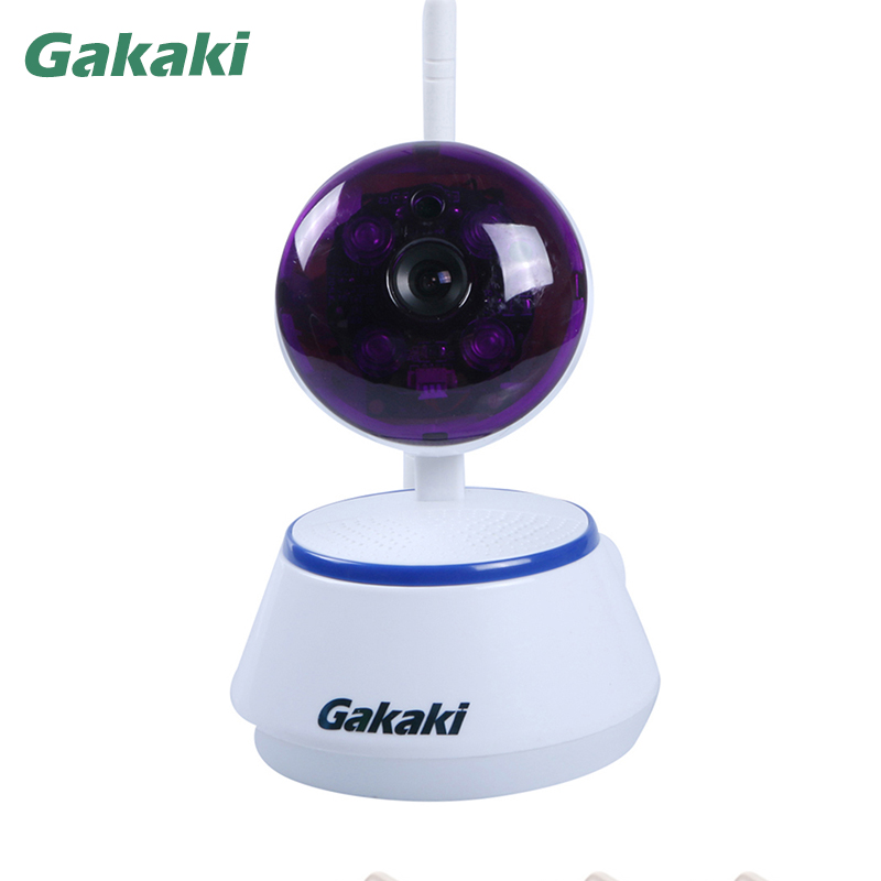 Gakaki Wireless IP Camera Baby Monitor 720P HD  Smart Home Security Video  Night Vision Surveillance Network CCTV Two way Audio hd 720p ip camera onvif black indoor dome webcam cctv infrared night vision security network smart home 1mp video surveillance