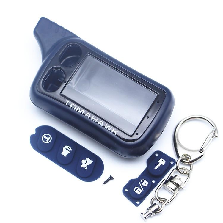 TZ 9010 Case KeyChain with LOGO For Russian 2-way Alarm System Key Fob Tomahawk TZ-9010 TZ9010 Tomahawk TZ9030,TZ 9030,TZ-9030 tomahawk tz 7010