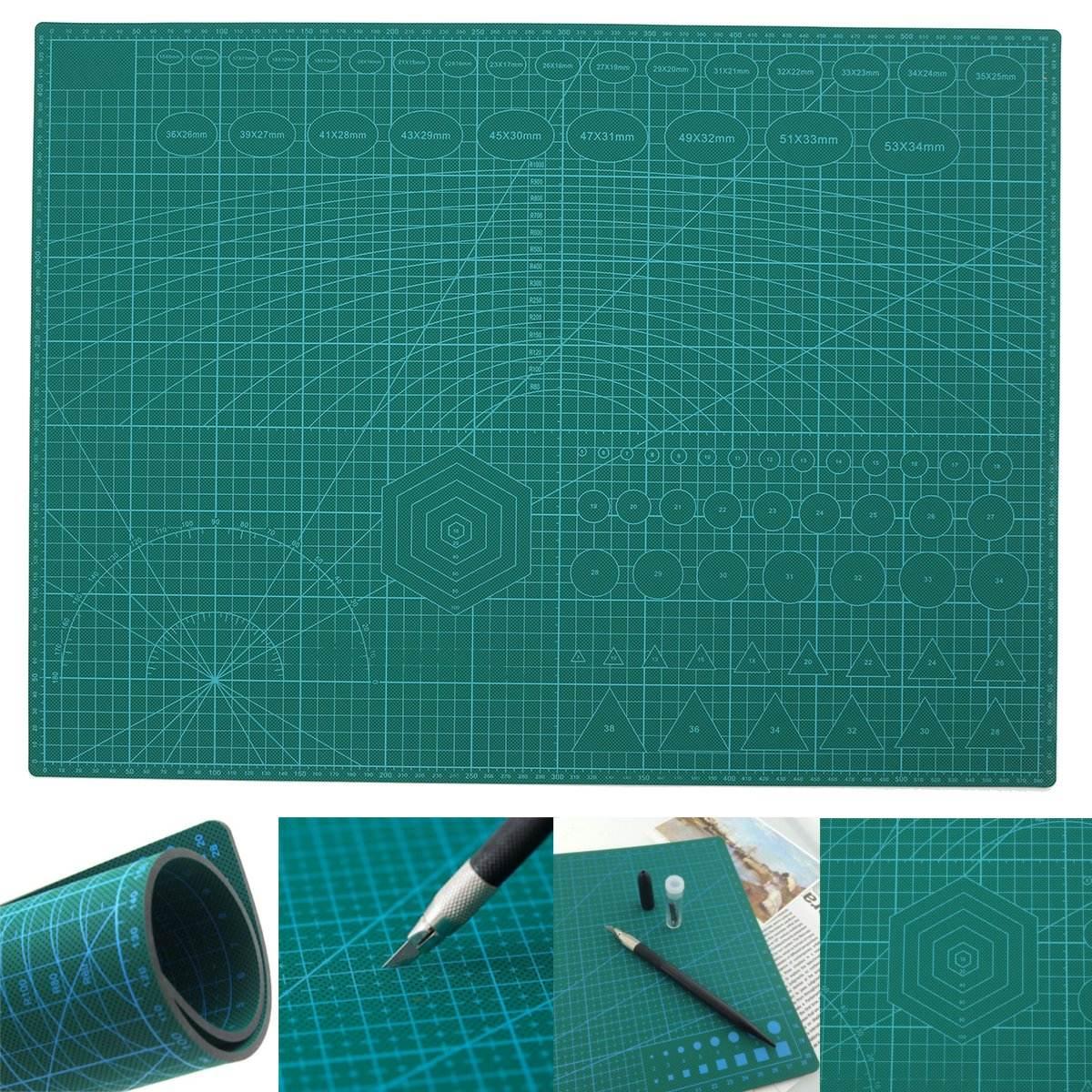 A2 ПВХ коврик для резки Лоскутная двойная печать самоисцеляющий коврик для резки ремесло Квилтинг, скрапбукинг доска 45X60CM 3 мм