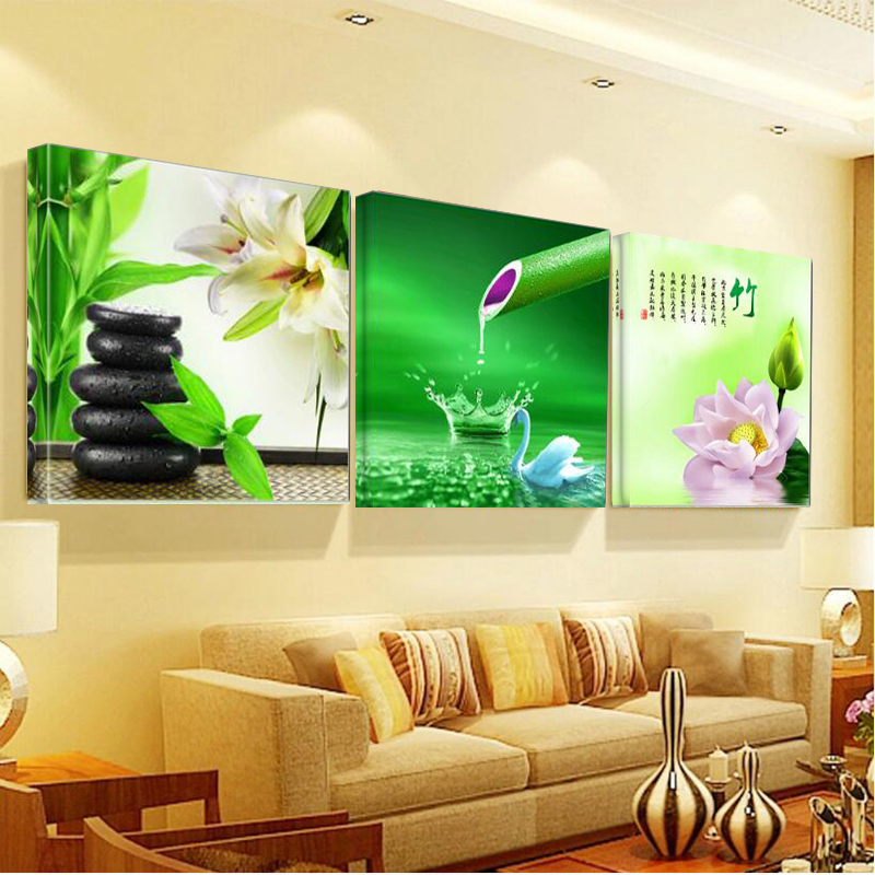 Kitchen Abstract Oil Paintings Triptych Painting Wall Art Bilder ...