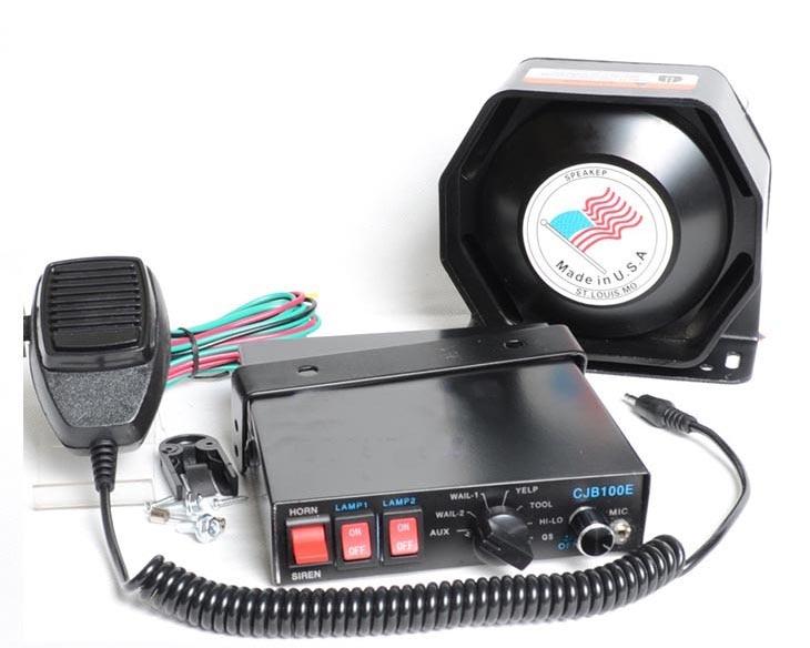 Sirène de Police CJB-7 ton 200 W alarme de voiture sirène klaxon systèmes de sécurité voiture sirène électronique klaxon Police mégaphone haut-parleur