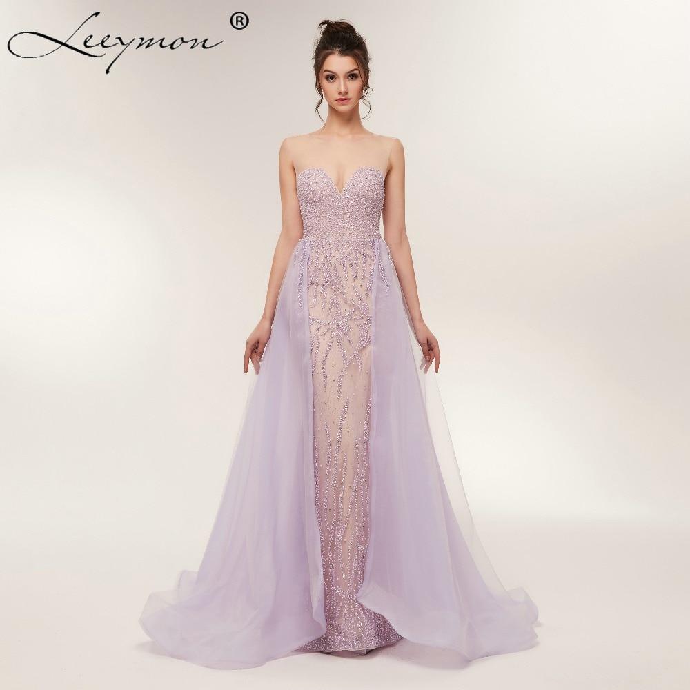 लैवेंडर टुले ओ-नेक - विशेष अवसरों के लिए ड्रेस