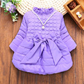 2016 new girls winter jacket children's cotton-padded Korean velvet thickening cartoon girls cotton coat with necklace