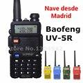 4 colores baofeng uv-5r walkie talkie radios de dos vías vhf/uhf de doble banda de aficionados de mano uv 5r radio portátil en madrid