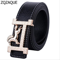 New Classic Style Horse Pattern Gold Buckle Waistbands For Men And Women Fashion Candy Colors Female