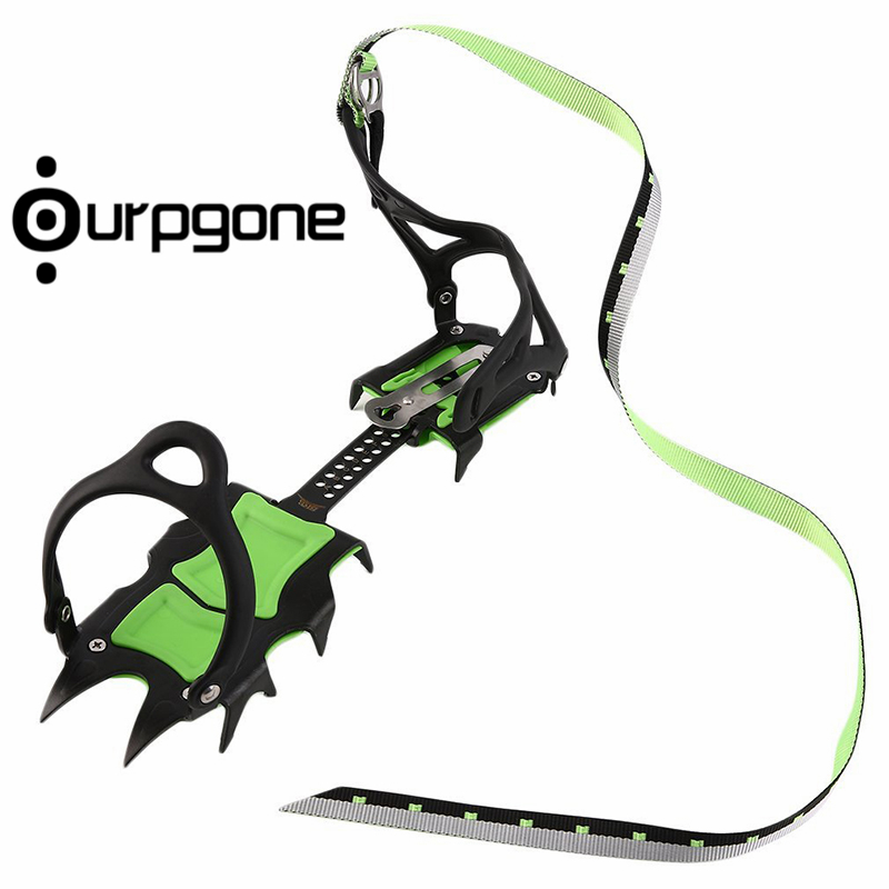 Ourpgone Dropshipping 1*Outdoor Camping Tools Crampon Traction Cleats Snow Ice Snow Climbing 14 Teeth Crampons Free shipping!