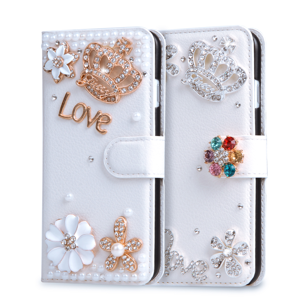 Rhinestone Wallet Stand Case Flip PU Leather Diamond Cover For Samsung Galaxy Grand Duos i9082 NEO