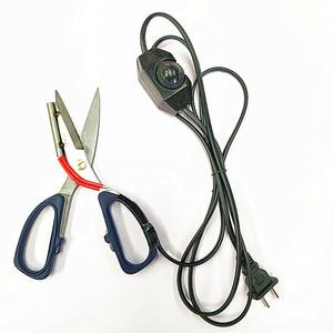 Image 2 - 1pc sarto Riscaldamento Elettrico forbici cesoie lama di Potenza calda riscaldata penna di indicatore di funzionamento per il taglio di stoffa