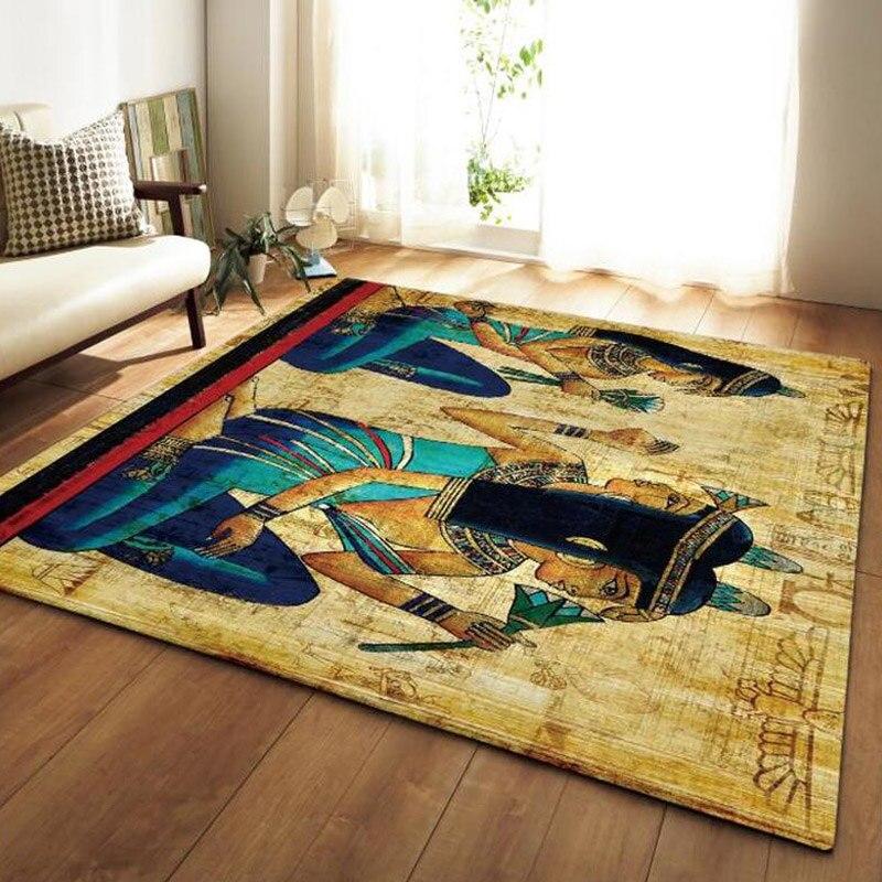 Egypt Style Area Rugs Anti-slip Large Carpets For Living Room Bedroom Sofa Floor Mat Kitchen Carpet Yoga Mat Home Decor Doormat