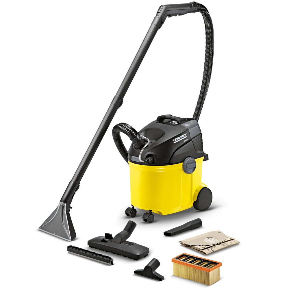 Vacuum cleaner KARCHER SE 5.100 (power 1400 W, dry and wet cleaning, spray water or detergent)