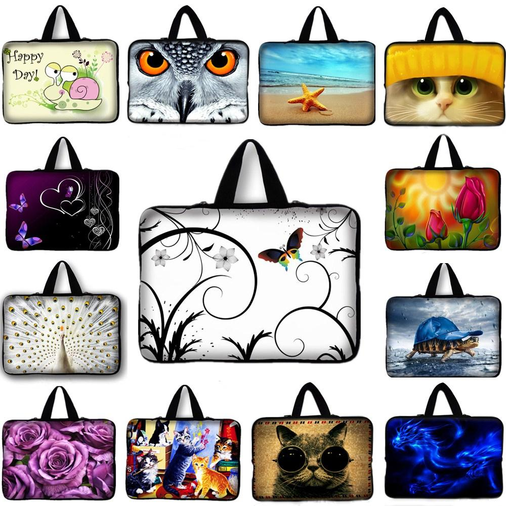 15 15.4 15.6 inch Neoprene laptop Sleeve Bag handle notebook case pouch cover For Toshiba Acer HP Dell Samsung Asus #