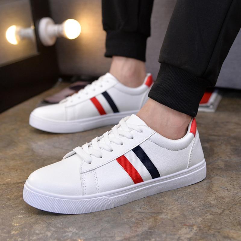 white Chaussures Hommes Sneakers automne Black Respirant Lacent Confortable Nouveau Marque Mode Appartements Printemps De Patchwork Cool 2018 Loisirs xBBqTXP