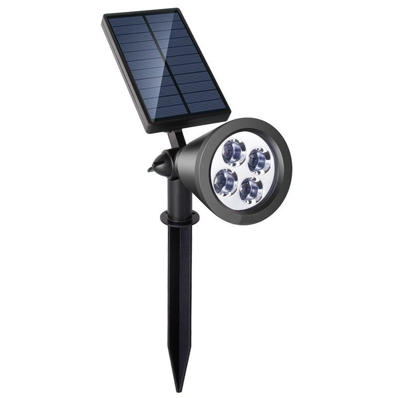 Driveway Night Lights: Solar LED Outdoor Spotlight Adjustable Wall Lamps