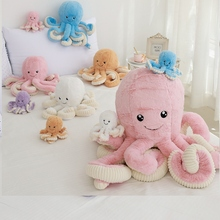 Plush Animal 18/40/60/80cm Giant Big Octopus Toys Doll Kawaii Room Soft Long Pillow Food Kid Sofa Pink