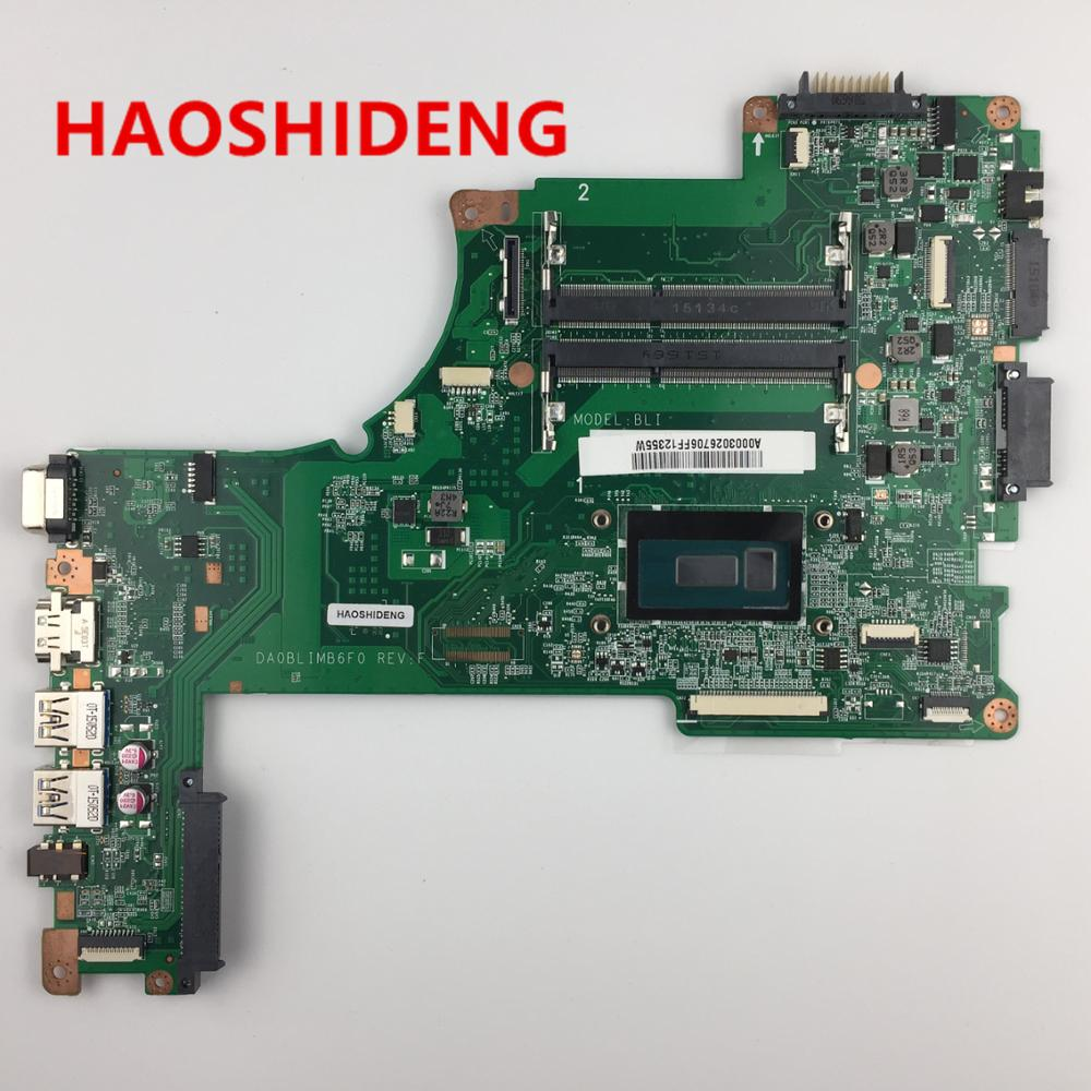 A000302670 DA0BLIMB6F0 for TOSHIBA Satellite L50 L55-B L55T-B5271 series motherboard with i5-5200U,All functions fully Tested! free shipping v000318010 for toshiba satellite l50 a l55 a l50t a l55t a laptop motherboard all functions 100% fully tested