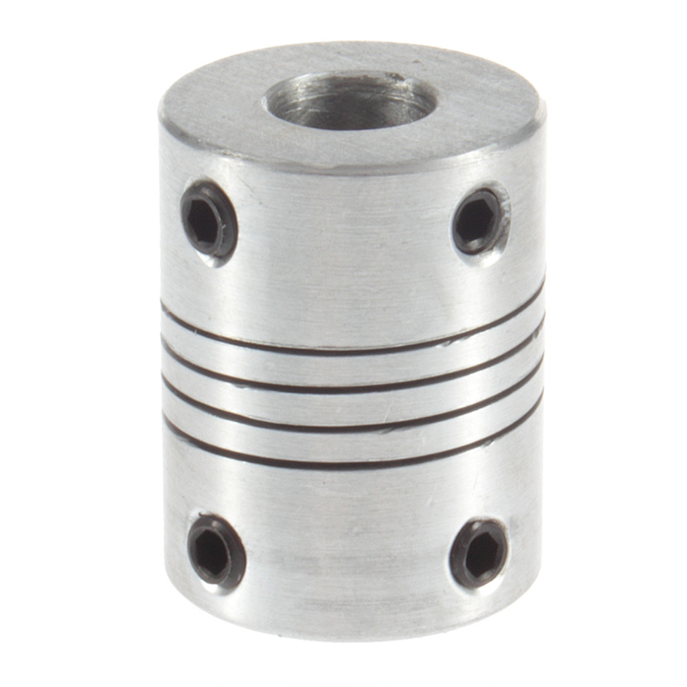 US $18 0 5% OFF|10Pcs/lot 3mm to 6 35mm Aluminium Stepper Motor Flexible  Shaft Coupling Cnc Diameter 19mm Length 25mm-in Shaft Couplings from Home