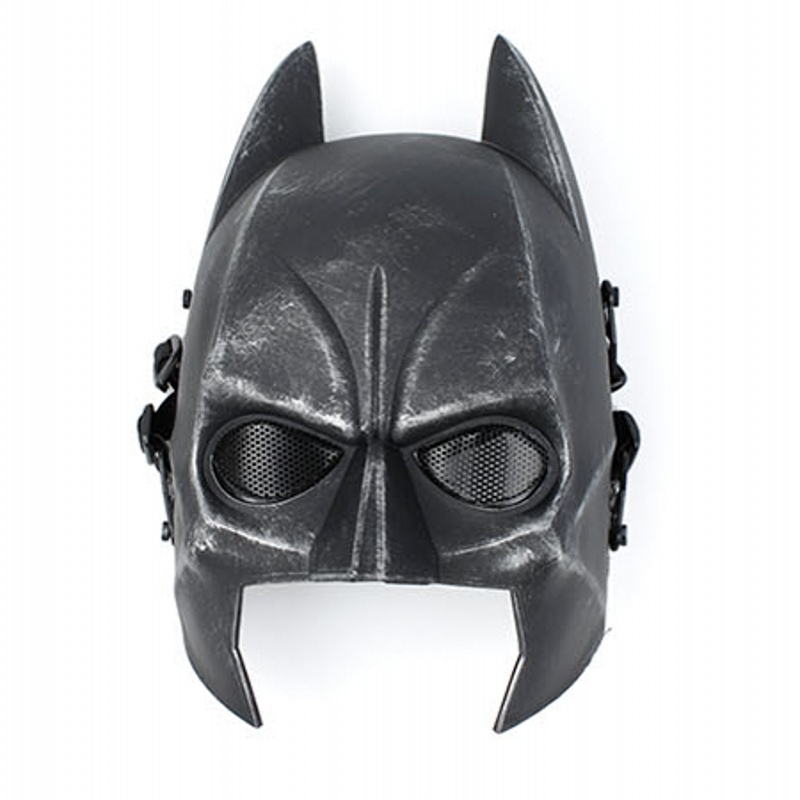 Batman Half Face Tactical Airsoft Mask Mesh CS Wargame Paintball Accessories Military Army Face Masks