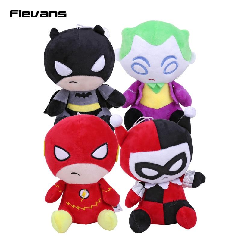 DC Comics The Flash Batman Harley Quinn The Joker Plush Toys Soft Stuffed Dolls 8 20cm брелок dc comics the joker card